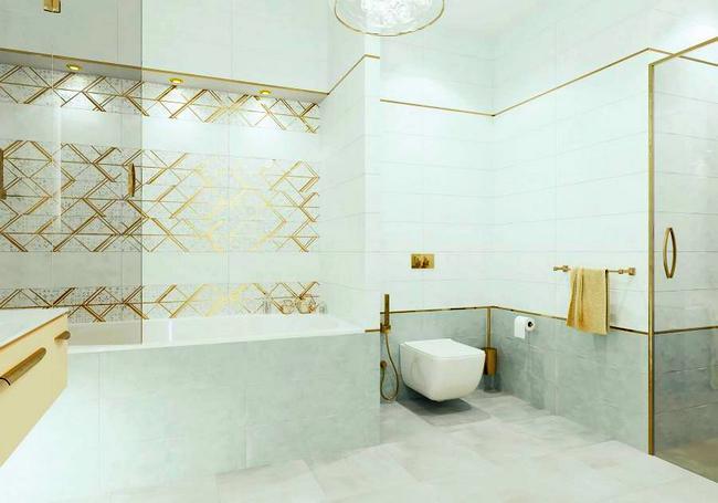 Керамическая плитка AltaCera Oxford в интерьере ванной комнаты